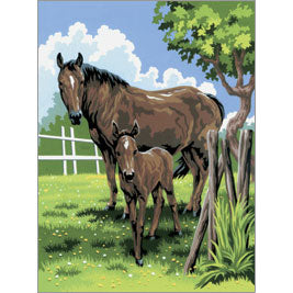 Mare & Foal - Painting  PJS21