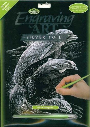 Silver Engraving - Dolphins