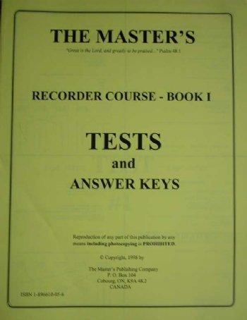 Recorder 1 - Test/Answer Key