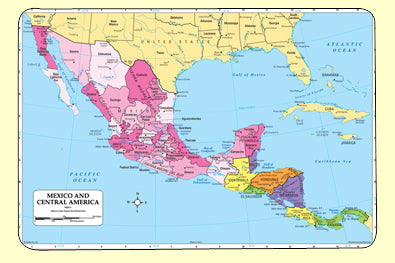 Mexico/Central America Map-Mat