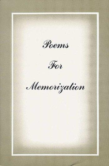 Poems for Memorization