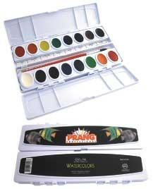 Watercolors set of 16