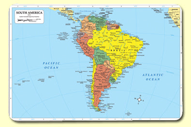 South America Map - Mat