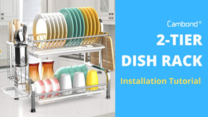 Cambond 2 Tier Dish Rack Installation Tutorial