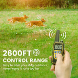 Dog Training Collar 2600ft Range Dog Shock Collar with Remote Waterproof