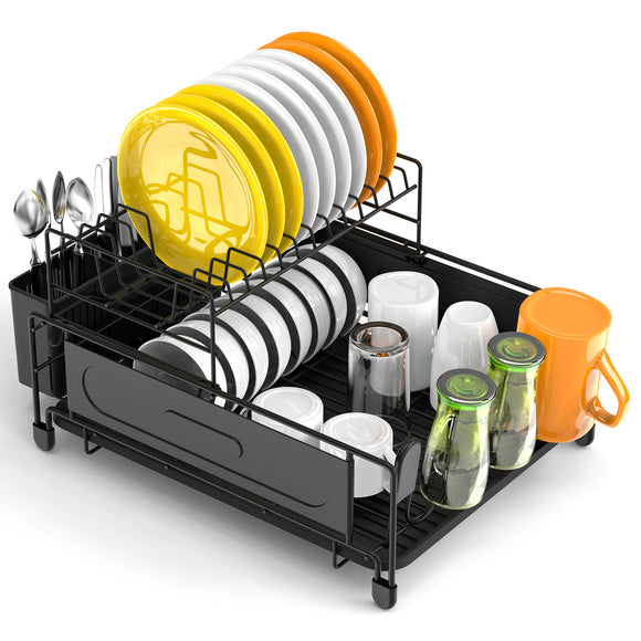 Dish Rack and Drainboard Set