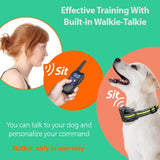 Dog Training Collar with Walkie-Talkie Function 2020 Upgraded Voice Training Collar for Dogs 2600ft Range Waterproof