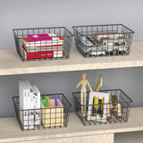 Wire Storage Baskets - 4 Pack
