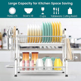 dish rack with drainboard