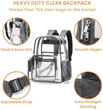 Heavy-duty Clear Backpack, Large (Grey)