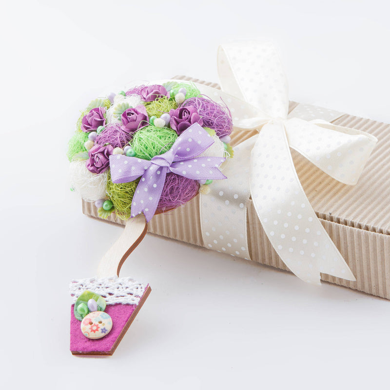 Tree Of Happiness Purple Floral Decor Magnet Charm Gift For сolleagues