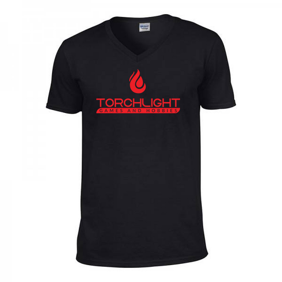 Torchlight V-Neck Shirt - Black