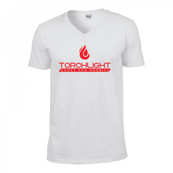 Torchlight V-Neck Shirt - White