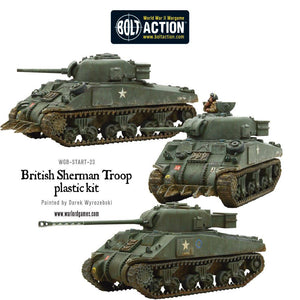 British Sherman V Troop (3) incl Firefly