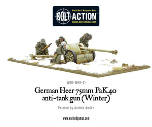 German Heer 75mm Pak 40 Anti-Tank Gun (Winter)
