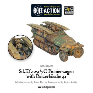 German Sd.Kfz 251/7C Pionierwagen with panzerbuchse 41