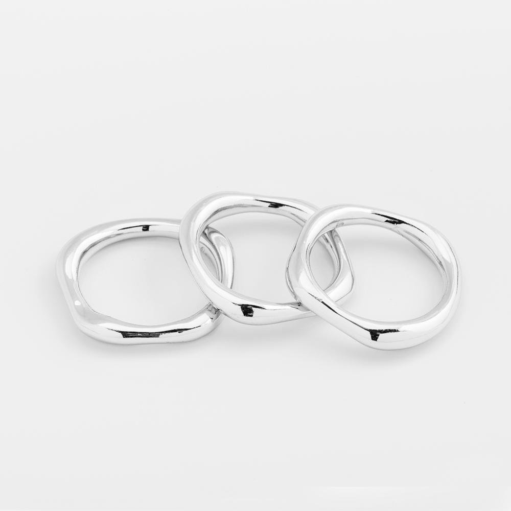 Gorjana Jewelry quinn ring set, modern thick rings