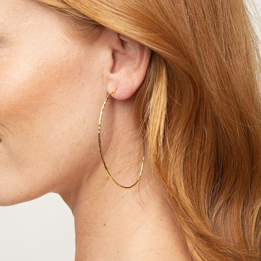 Gorjana Jewelry Harbour Hoops, Thin Hoop Earrings, Gold Hoops