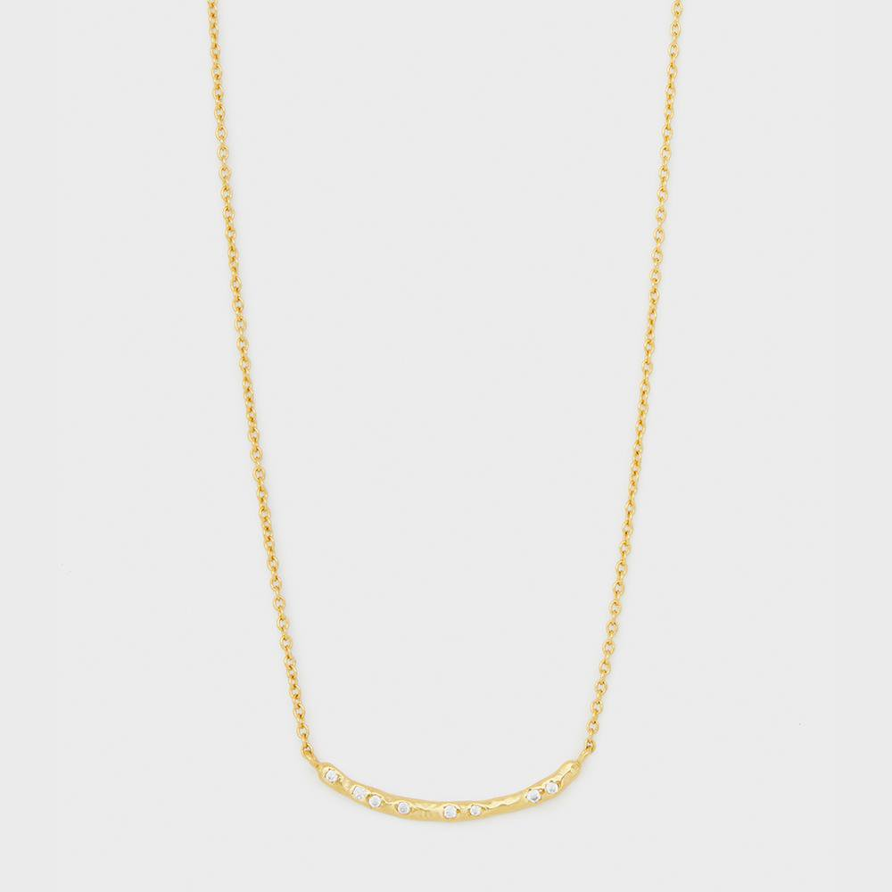 Gorjana Jewelry Gold Necklace, Collette Bar Adjustable Necklace