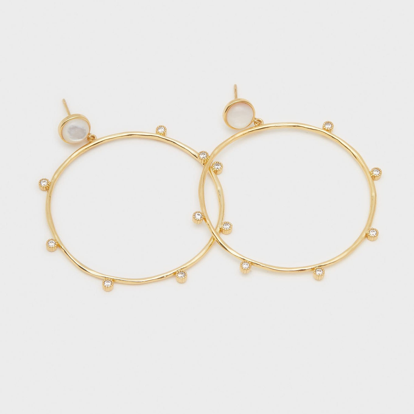 Eloise Gem Drop Hoops Mother of Pearl