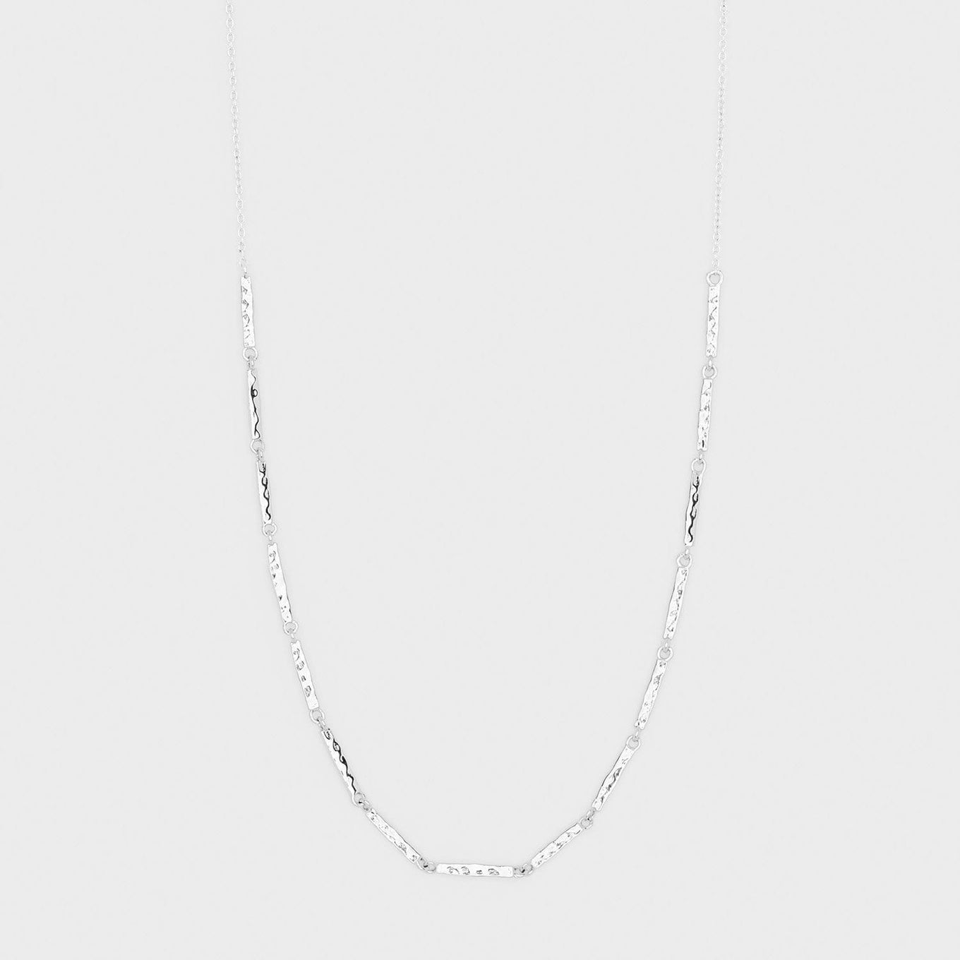 gorjana jewelry silver bar necklace, Balboa Bar Necklace