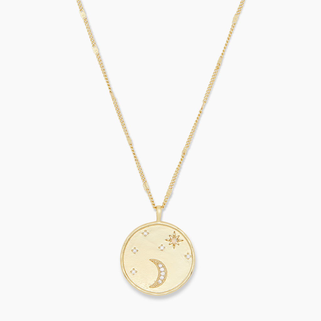 Gold | gorjana Jewelry | Luna Coin Necklace