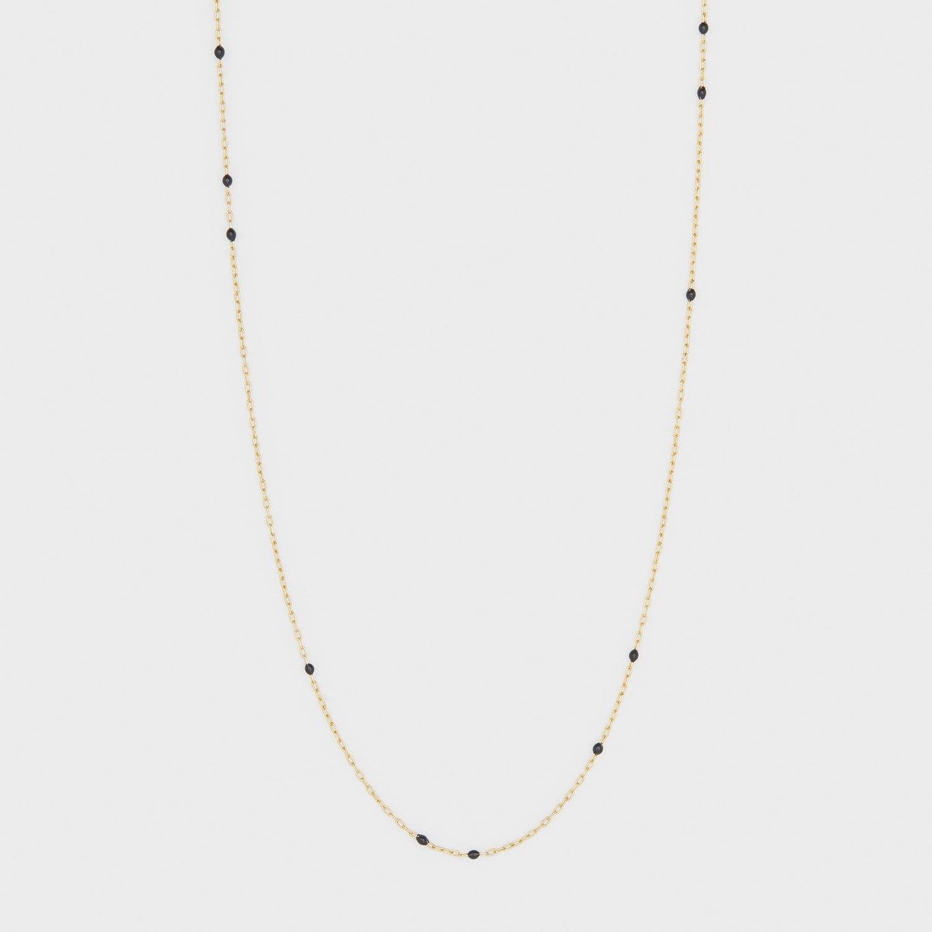 Capri Necklace Black Enamel
