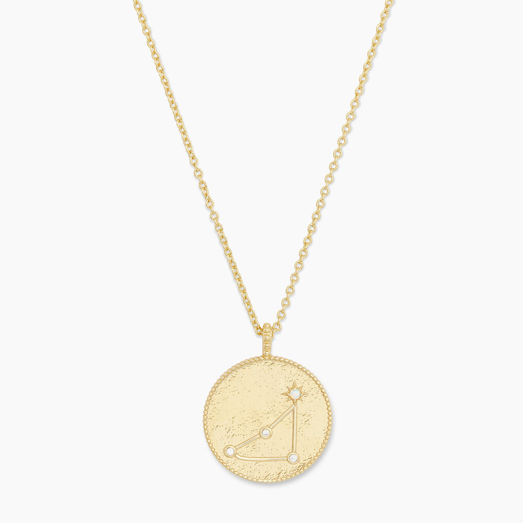 Gold | gorjana Jewelry | Astrology Coin Necklace (Capricorn)