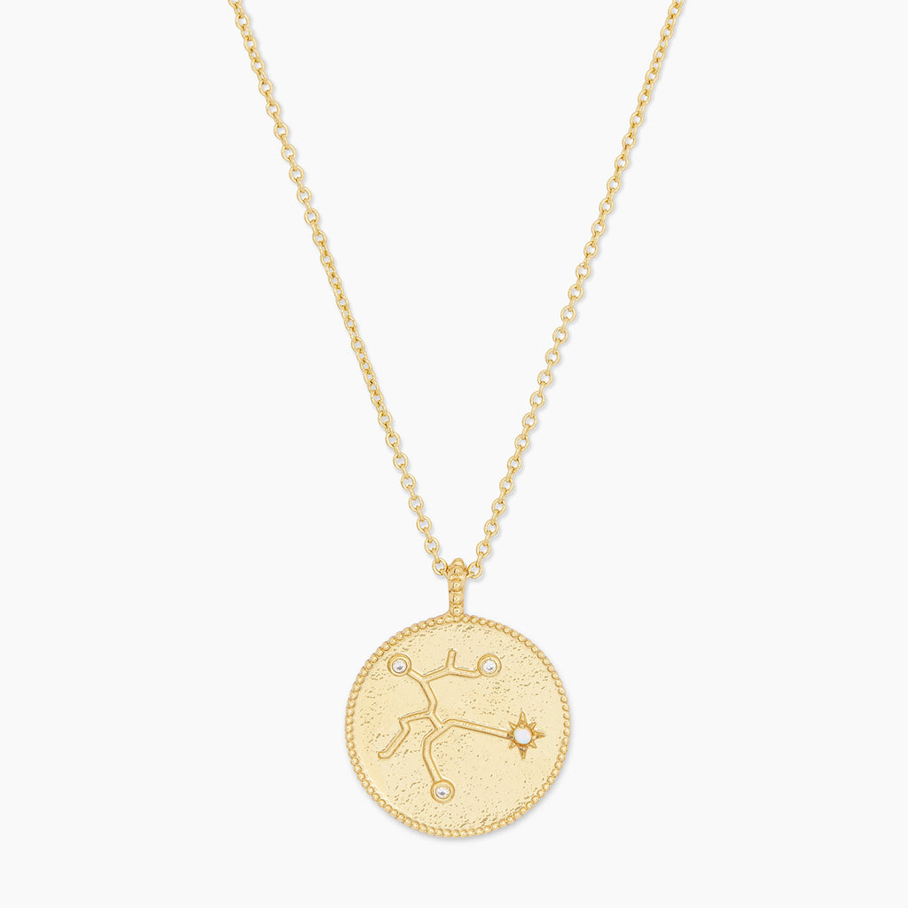 Gold | gorjana Jewelry | Astrology Coin Necklace (Sagittarius)