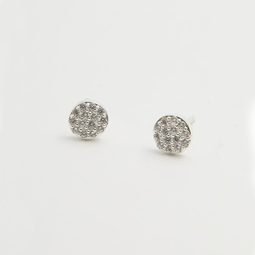 Gorjana Jewelry Pristine Shimmer Stud, sparkle circle stud earrings