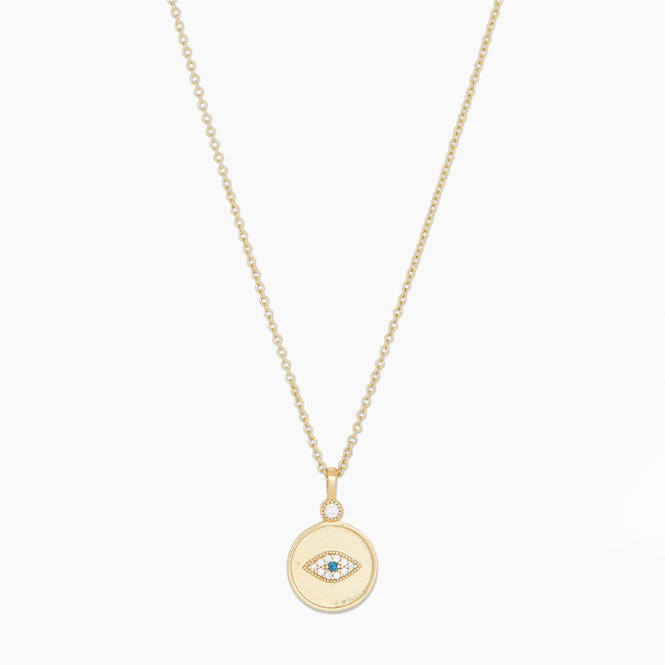 Madison Evil Eye Coin Necklace
