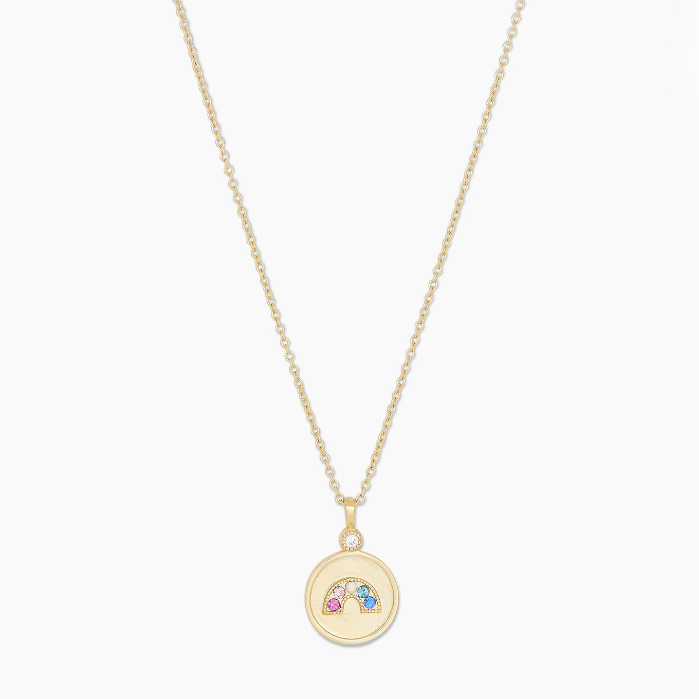 Madison Rainbow Coin Necklace