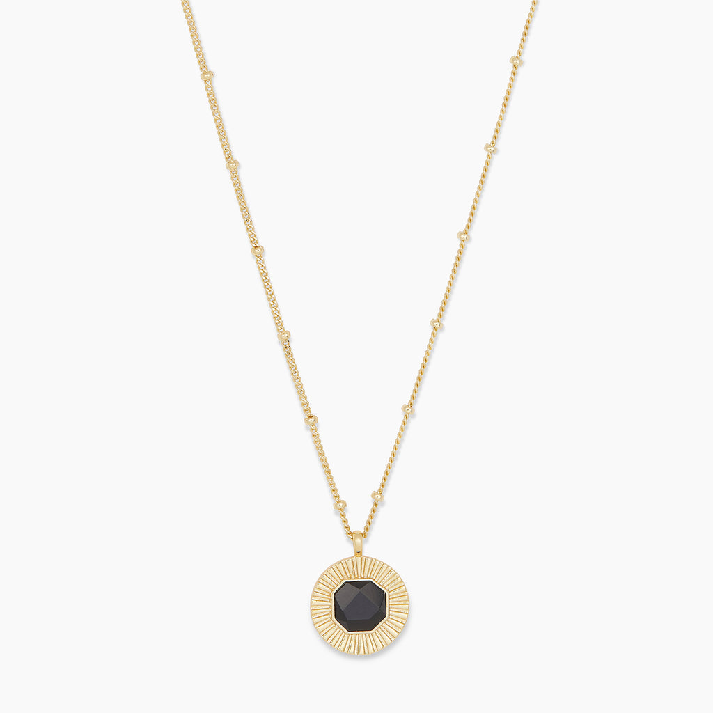 Gold | gorjana Jewelry | Gold Power Gemstone Coin Necklace for Protection