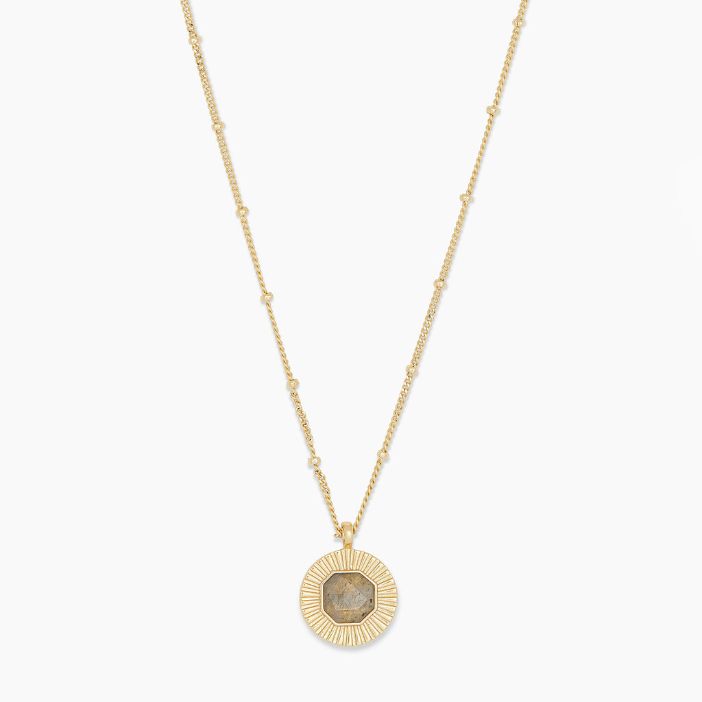 Gold | gorjana Jewelry | Gold Power Gemstone Coin Necklace for Balance