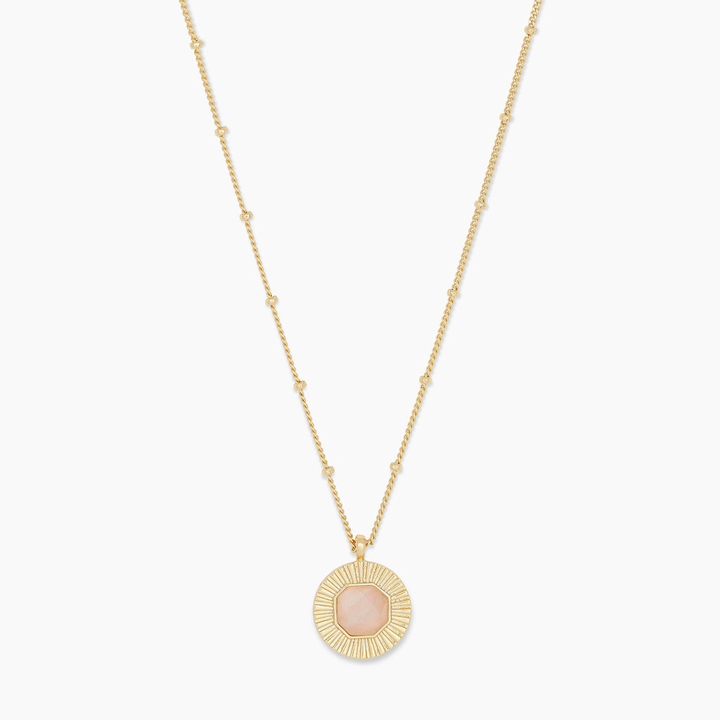 Gold | gorjana Jewelry | Gold Power Gemstone Coin Necklace for Love