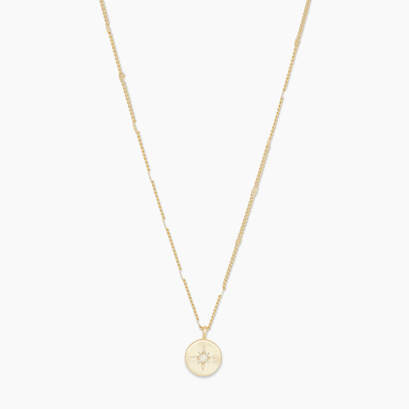 Gorjana Jewelry Gold Power Birthstone Coin Necklace April