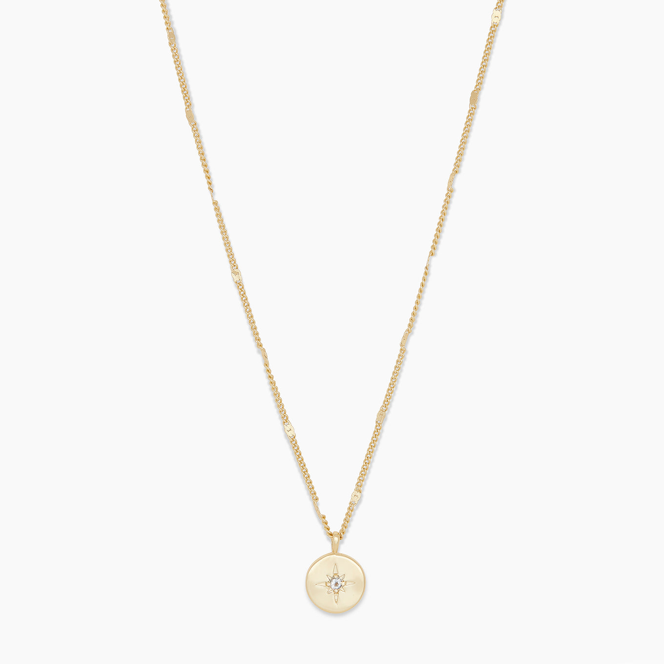 Gorjana Jewelry Gold Power Birthstone Coin Necklace March