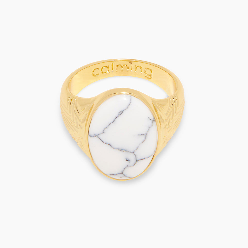 Gold | gorjana jewelry | Power Gemstone Mantra Ring for Calming