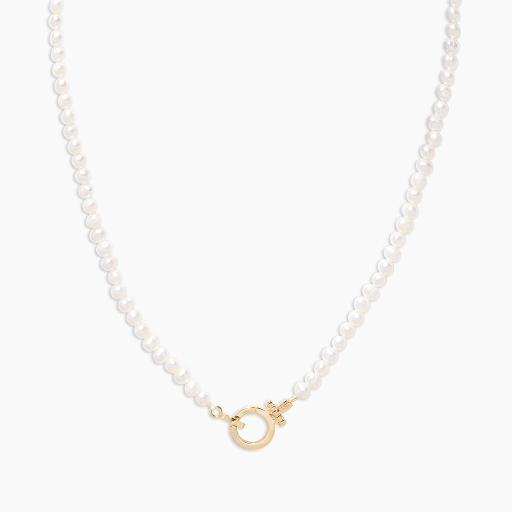 White Pearl | gorjana jewelry | Parker Pearl Necklace