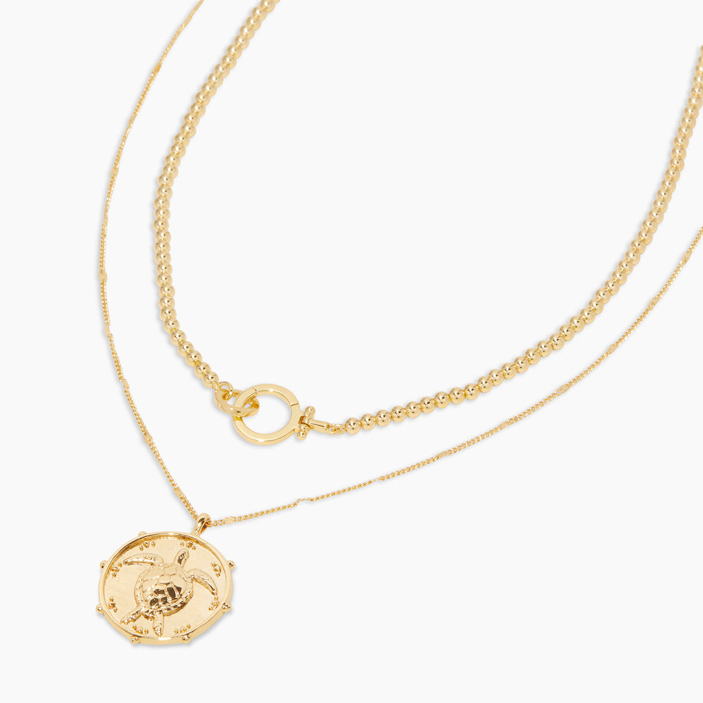 Gold | gorjana jewelry | Turtle Totem Layering Set