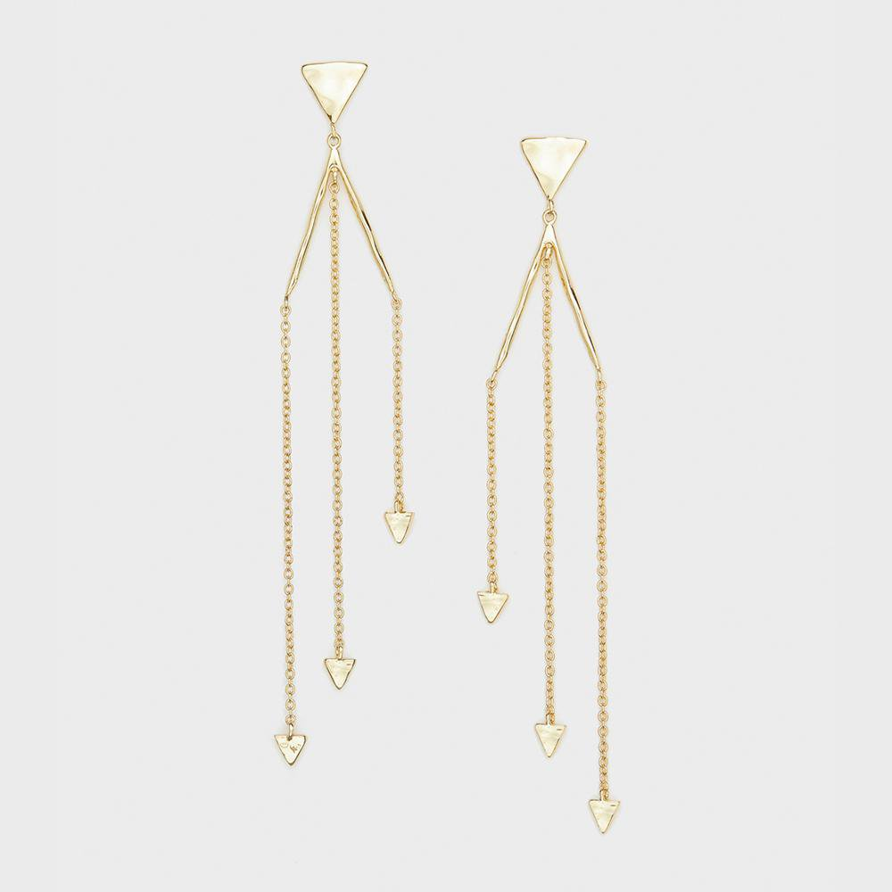 Gorjana Jewelry Gold Luca Triangle Earrings, statement earrings