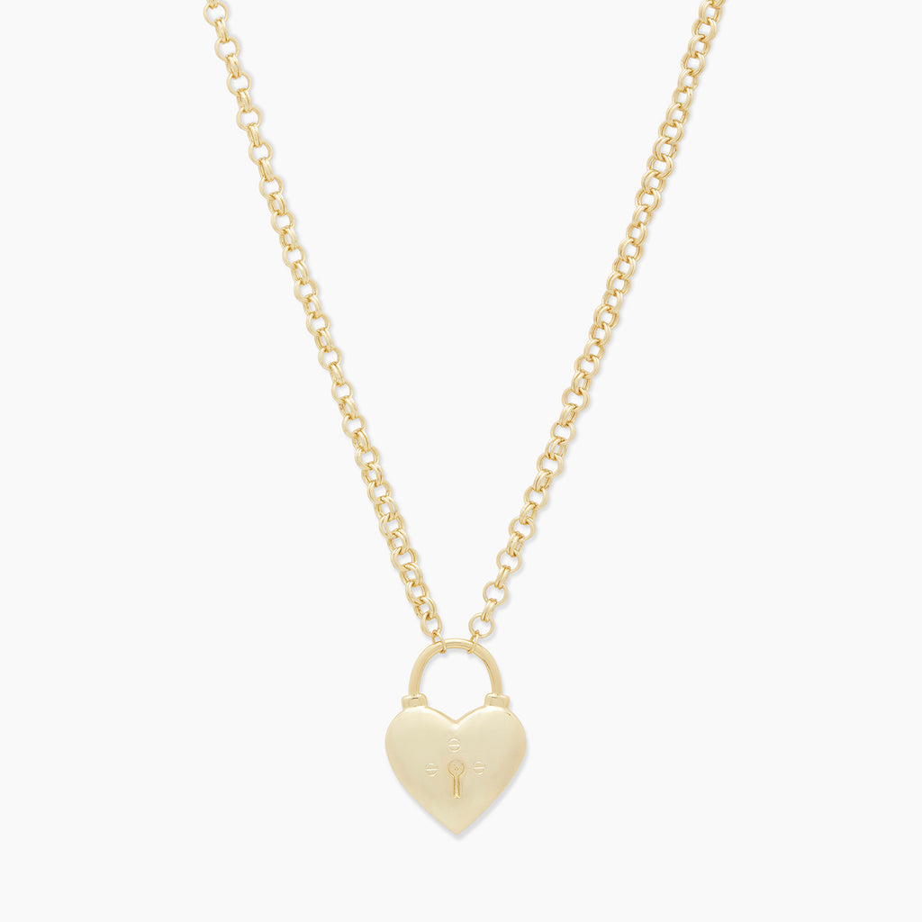 Gold | gorjana jewelry | Kara Heart Padlock Necklace