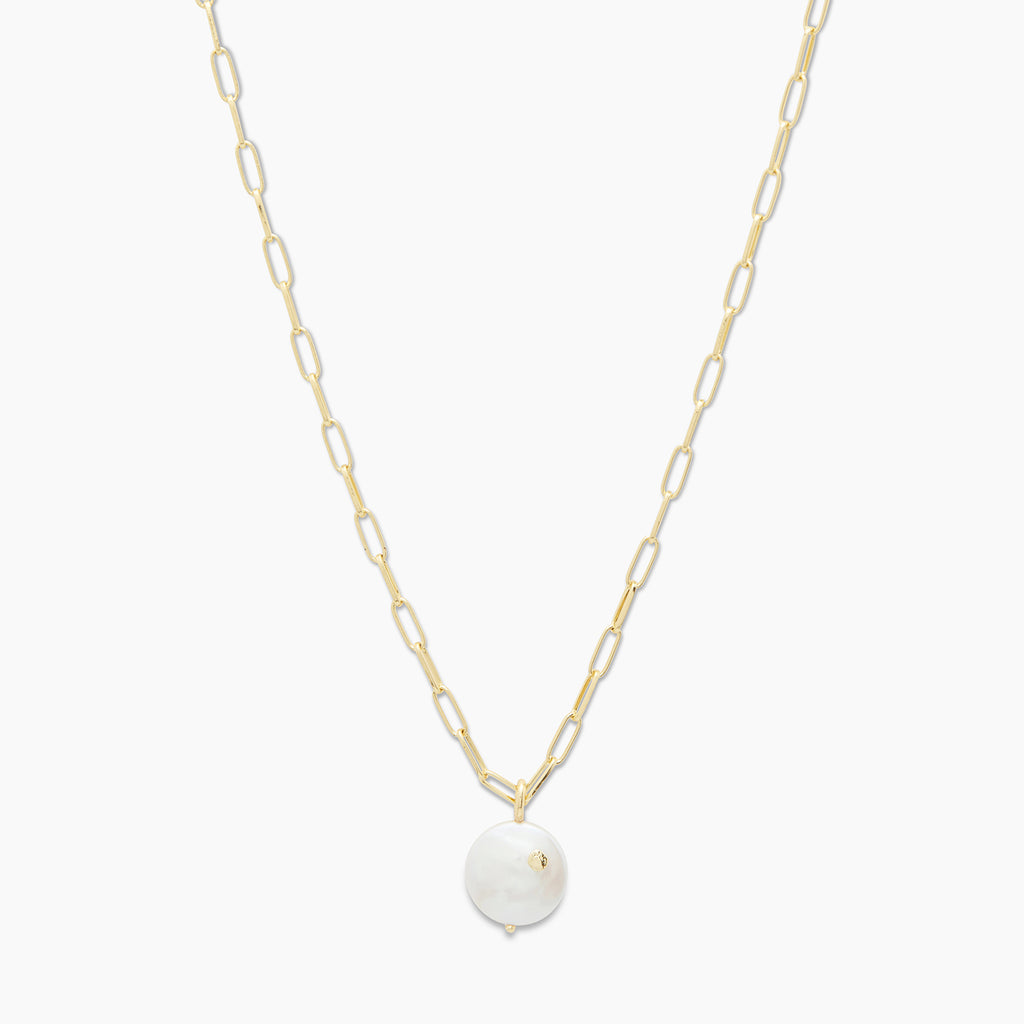 Gold | gorjana jewelry | Reese Pearl Necklace