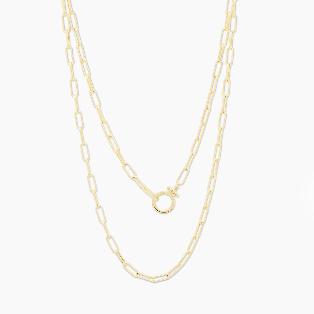 Gold | gorjana jewelry | Parker Wrap Necklace