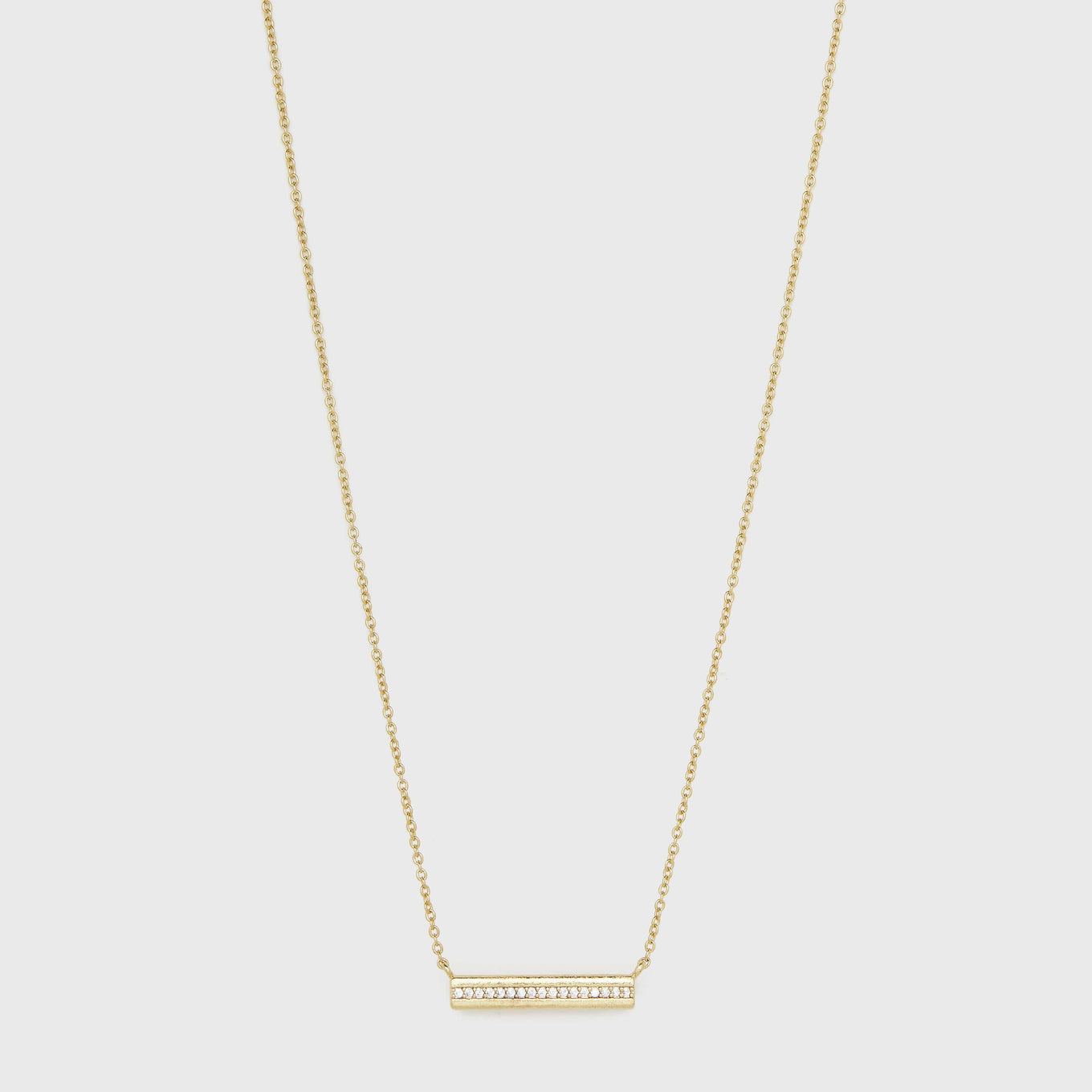 Gorjana Jewelry Gold Bar Necklace, Nia Shimmer Bar Necklace