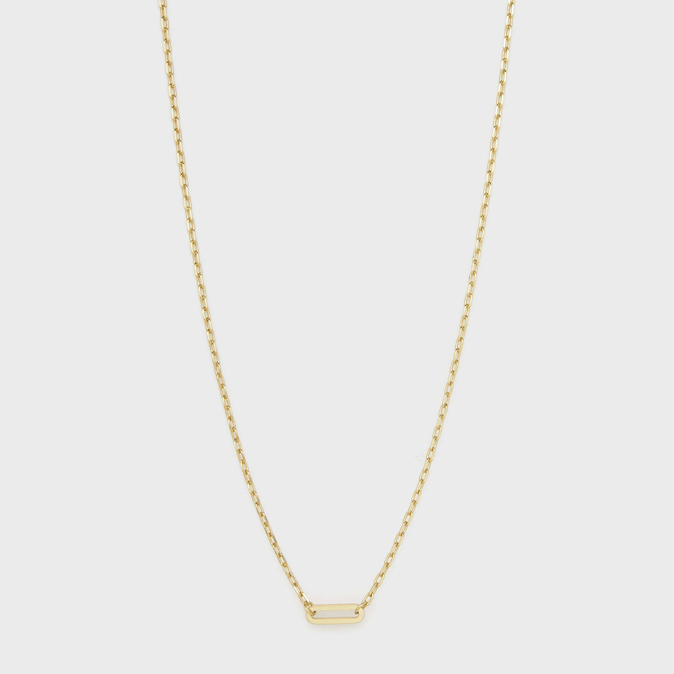 Gorjana Jewelry Gold Rectangle Charm Necklace, Parker Charm Necklace