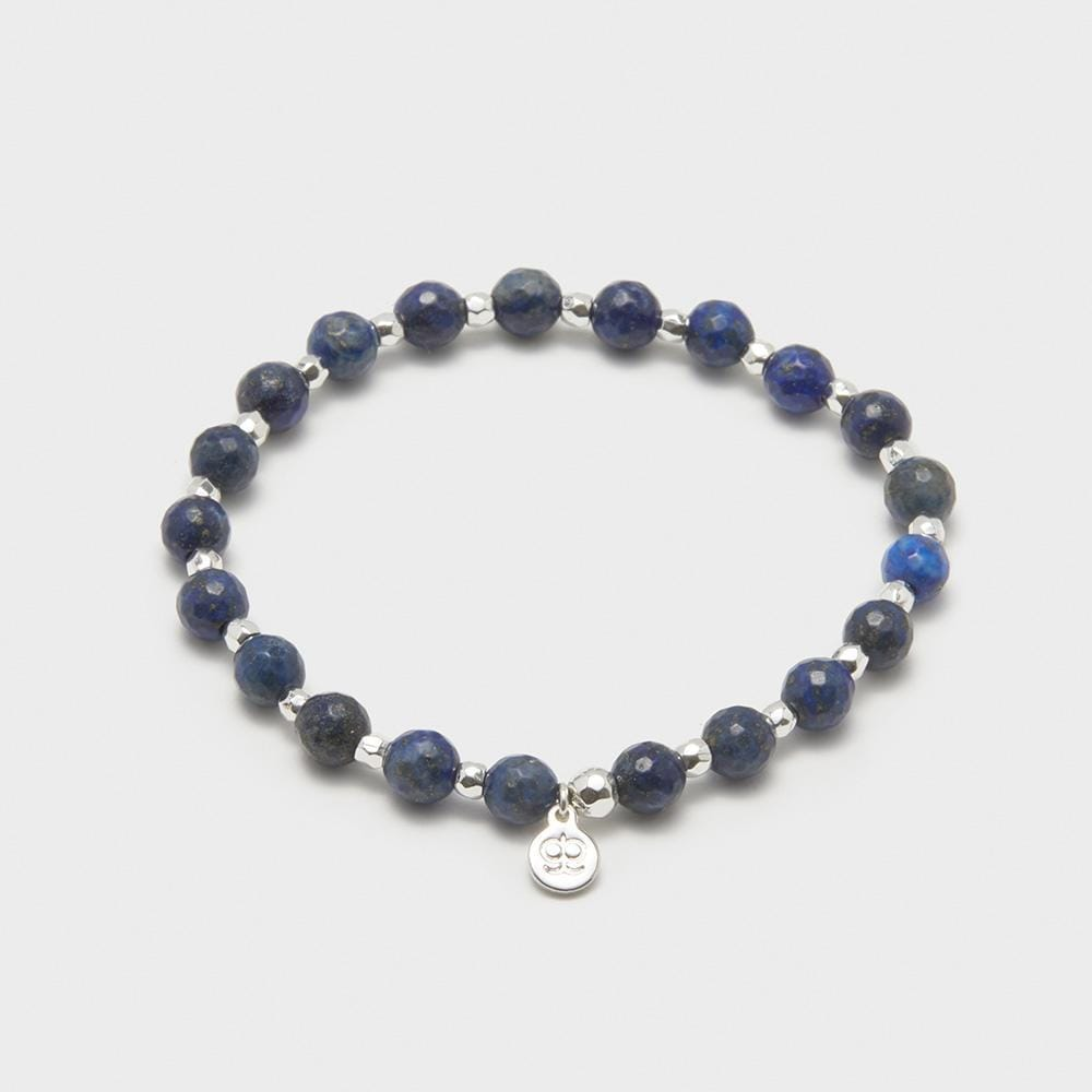 Gorjana Jewelry Lapis Elastic Bracelet, Power Gemstone Elastic Bracelet for Wisdom