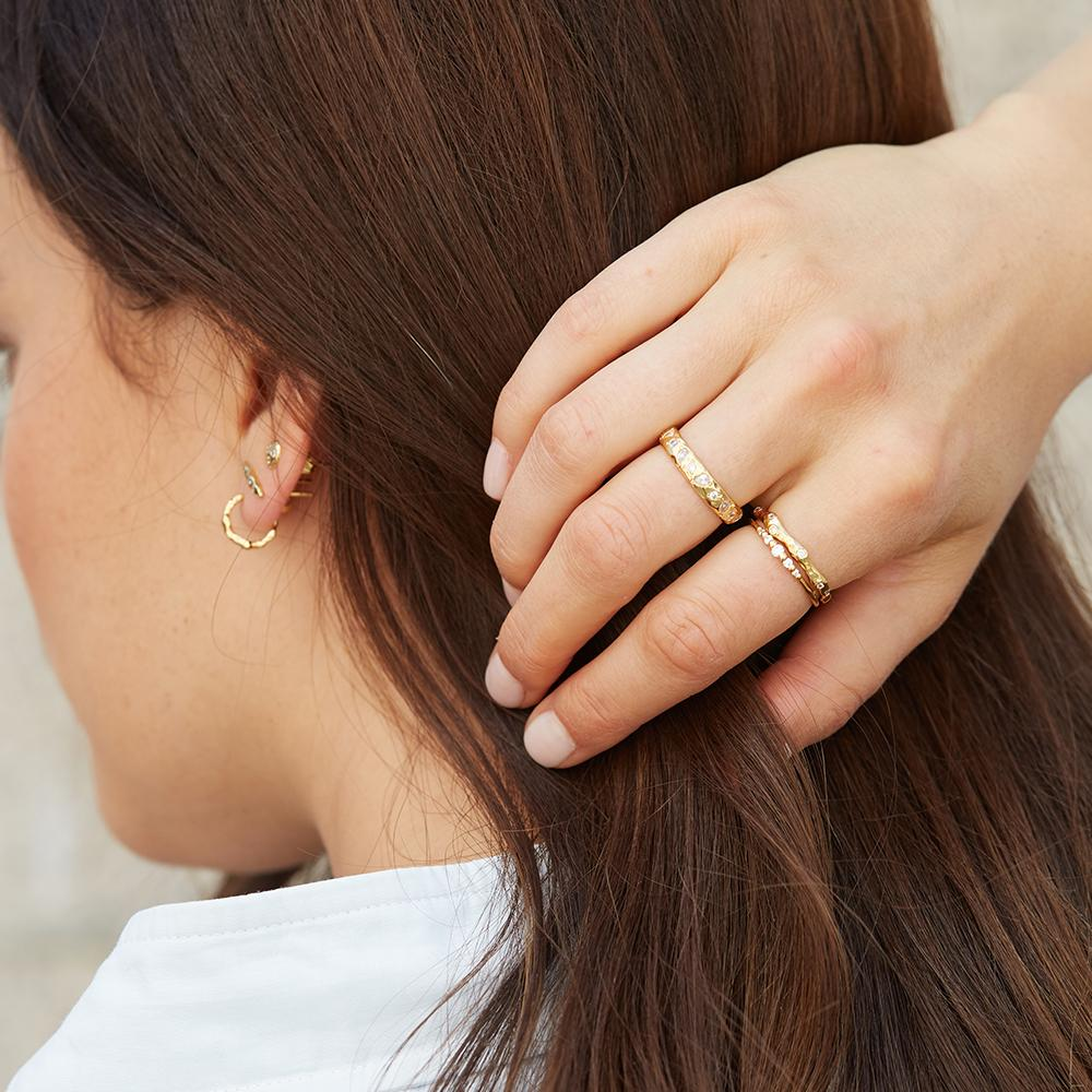 Gorjana Jewelry Gold collette layering rings, everyday rings