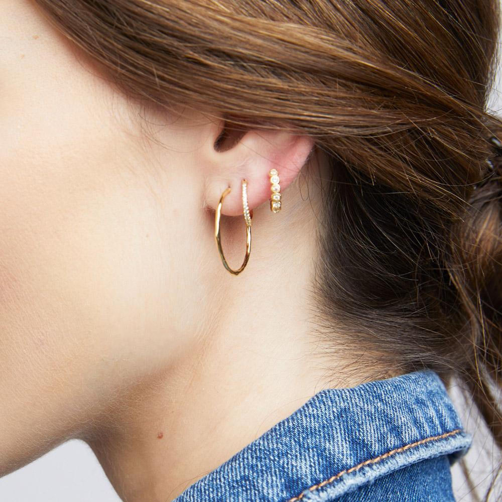 Gorjana Jewelry Rose Gold Small Hoop Earrings, Taner Small Hoops