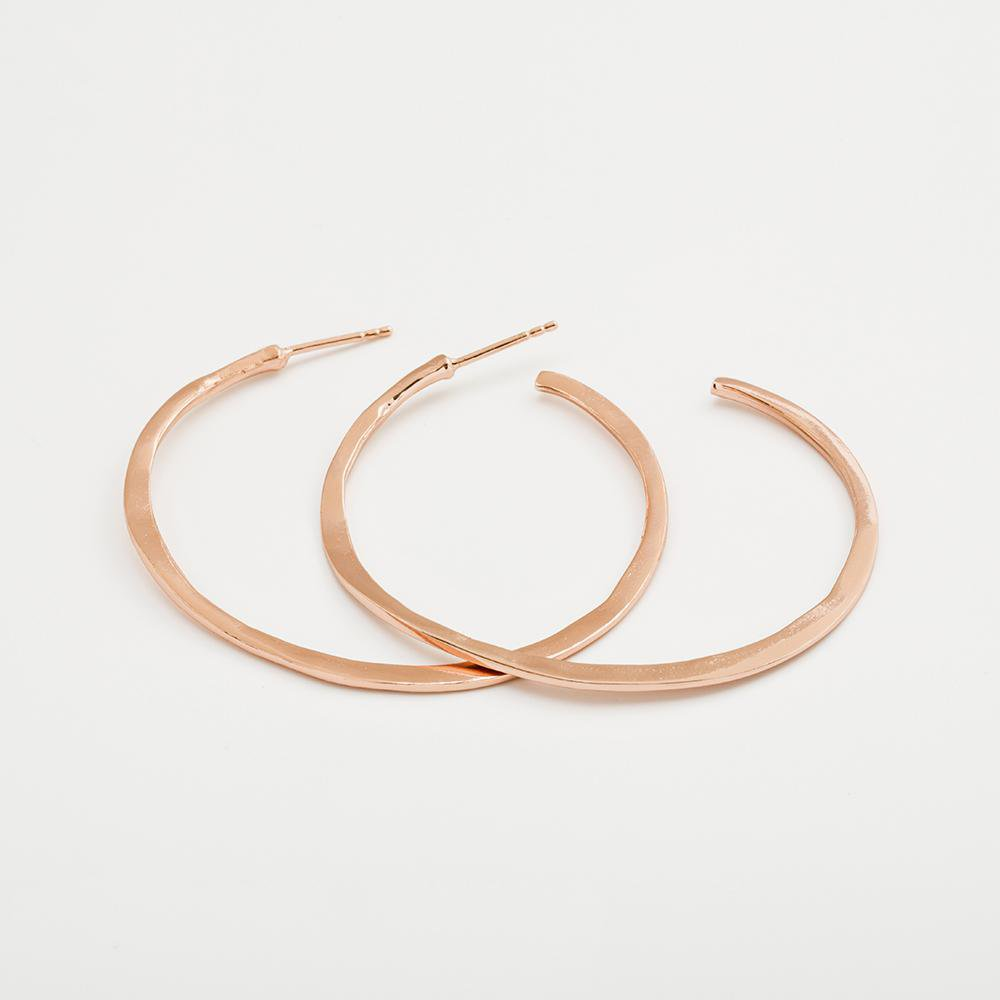Gorjana Jewelry Arc Large Hoops, Rose Gold Hoops, Hoop Earring